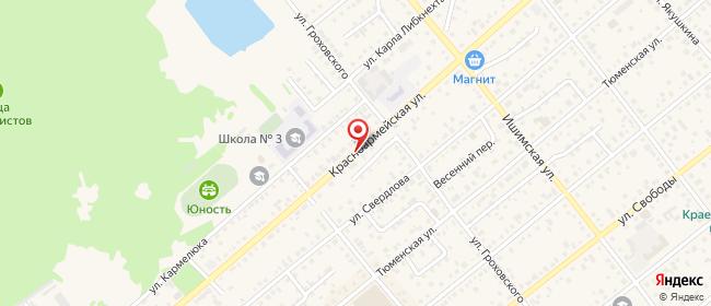 Карта расположения пункта доставки Билайн в городе Ялуторовск