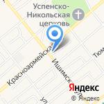 Парус на карте Ялуторовска