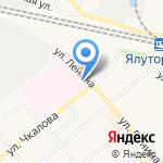 Больничный храм в честь иконы Божией Матери Целительница на карте Ялуторовска