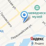 Роза ветров на карте Ялуторовска