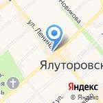 Копейка на карте Ялуторовска