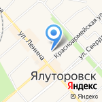 Средняя общеобразовательная школа №1 на карте Ялуторовска