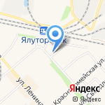 Перрон на карте Ялуторовска