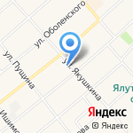 Магазин спецодежды на карте Ялуторовска