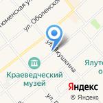 Ялуторовский на карте Ялуторовска