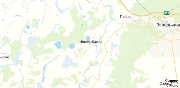 Новолыбаево на карте