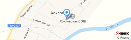 Сеть продуктовых магазинов на карте Хохлово
