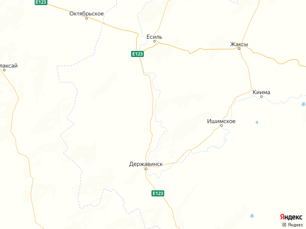 село Пятигорское на карте