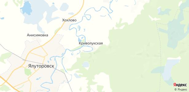 Криволукская на карте