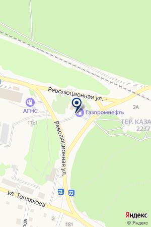 АЗС N 21 ГАЗПРОМНЕФТЬ на карте Заводоуковска