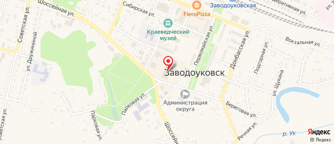 Карта расположения пункта доставки Westfalika в городе Заводоуковск