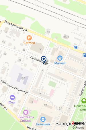 ЖКО N 1 на карте Заводоуковска