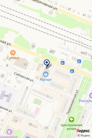 БАНКОМАТ ТРАНСКРЕДИТБАНК на карте Заводоуковска