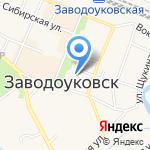 Заводоуковская детская школа искусств на карте Заводоуковска