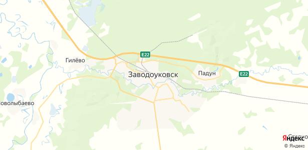 Заводоуковск на карте