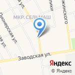 Вечерняя лилия на карте Заводоуковска