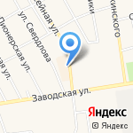 Кокетка на карте Заводоуковска