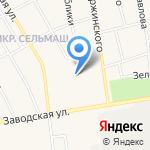 Березка на карте Заводоуковска