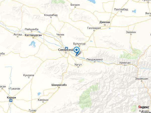 село Курган на карте