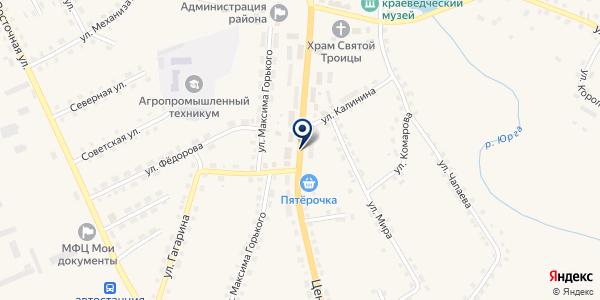 БАНК СБЕРБАНК N 1648/038 (ОПЕРАЦИОННАЯ КАССА) на карте Юргинском