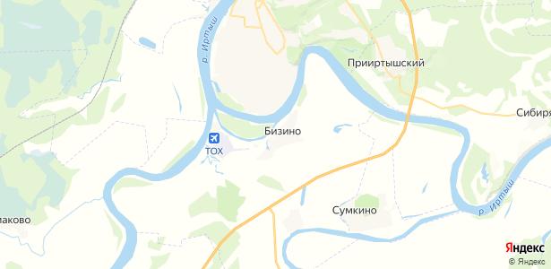 Бизино на карте