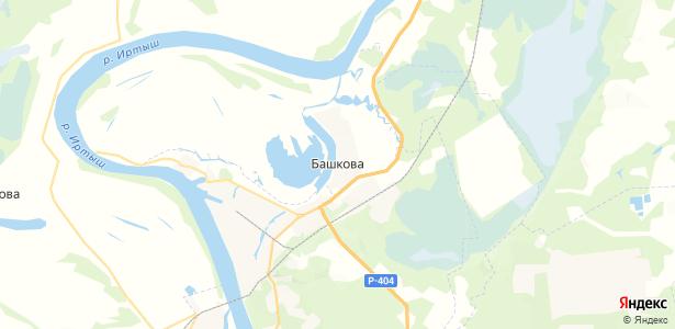 Башкова на карте