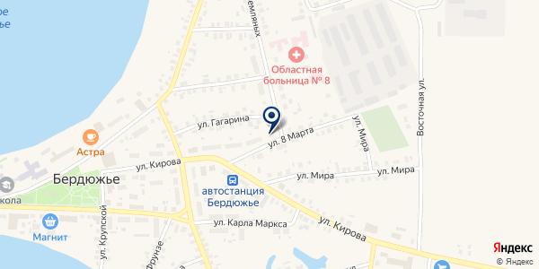 АВТОСТАНЦИЯ на карте Бердюжье