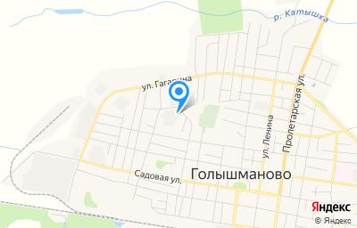 Местоположение на карте пункта техосмотра по адресу Тюменская обл, рп Голышманово, ул Карла Маркса, д 156