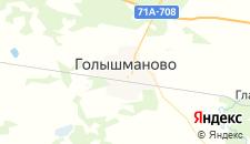 Отели города Голышманово на карте
