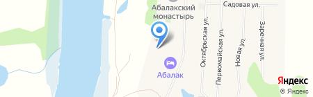 Башни Самбулы на карте Абалака