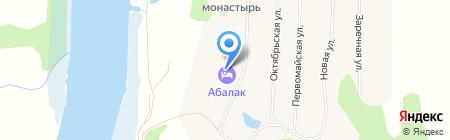 Стрелецкие палаты на карте Абалака
