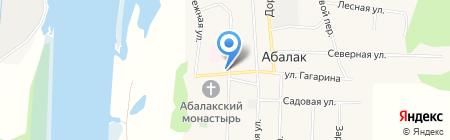 Продуктовый магазин на ул. Советская на карте Абалака