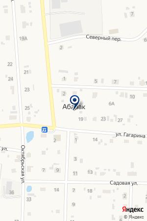Полюс на карте Абалака