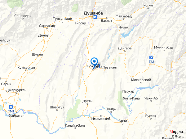 Курган-Тюбе на карте