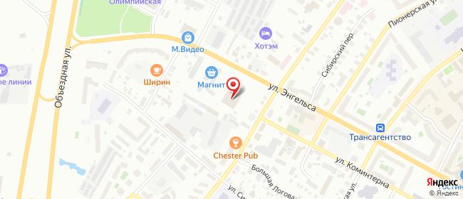 Карта расположения пункта доставки Халва в городе Ханты-Мансийск