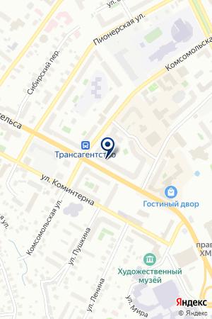 МАГАЗИН GOLDEN FOX (ГОЛДЕН ФОКС) на карте Ханты-Мансийска