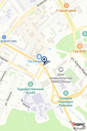 АДМИНИСТРАЦИЯ СЕЛЬСКОГО ПОСЕЛЕНИЯ КЫШИК на карте Ханты-Мансийска
