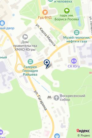 АВТОШКОЛА РОСТО на карте Ханты-Мансийска