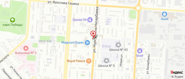 Карта расположения пункта доставки На Северном в городе Петропавловск