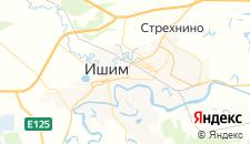 Гостиницы города Ишим на карте