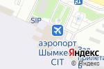 Схема проезда до компании QAZAQ AIR в Шымкенте