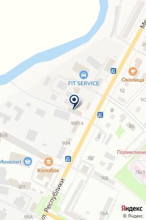 АВТОМАГАЗИН АВТОСНАБСЕРВИС на карте Ишима
