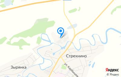Местоположение на карте пункта техосмотра по адресу Тюменская обл, Ишимский р-н, с Стрехнино, стр 10А