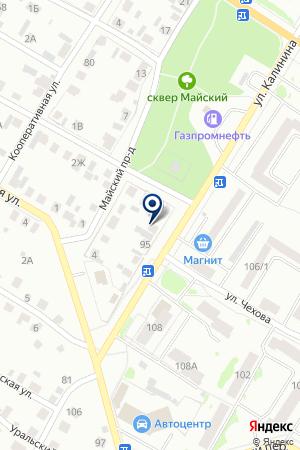 АЗС N 26 ГАЗПРОМНЕФТЬ на карте Ишима