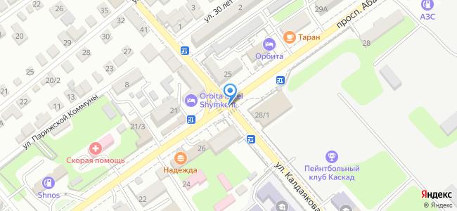 ул. Калдаякова уг. ул.Абая, за зданием завода Пресс-автоматов,
