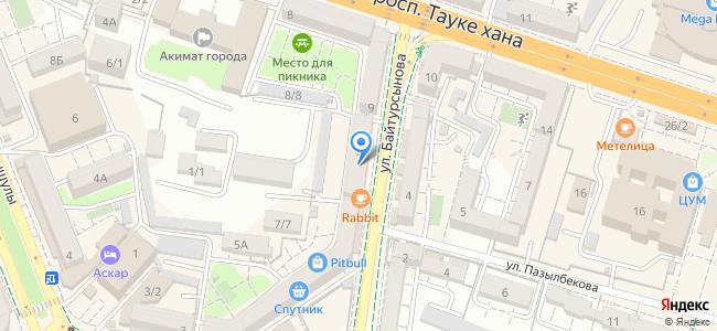 Казахстан, Шымкент, улица Байтурсынова, 7