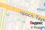 Схема проезда до компании Ардақ в Шымкенте