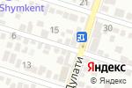 Схема проезда до компании Сана Сезім в Шымкенте