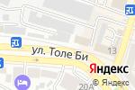 Схема проезда до компании КОКТЕМ в Шымкенте