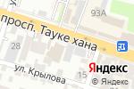 Схема проезда до компании embawood в Шымкенте